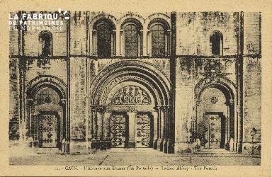 Cl 06 390 Caen-L'abbaye aux dames (les portails)