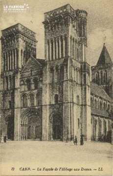 Cl 06 397 Caen-La façade de l'abbaye aux dames