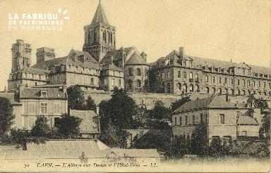 Cl 06 399 Caen-l'abbaye aux dames et l'hôtel dieu