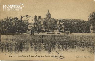 Cl 06 401 Caen-Eglise de la trinité, abbaye aux dames, vue prise du po