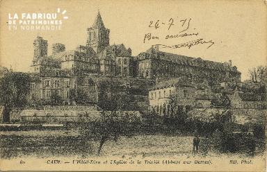 Cl 06 407 Caen-L'hôtel dieu et l'église de la trinité (abbaye aux dame