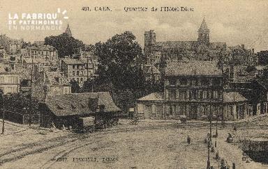 Cl 07 007 Caen - Quartier de l'Hotel-Dieu