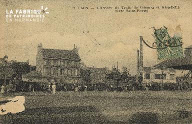 Caen - L'Arrivée du Train de Cabourg et Riva-Bella