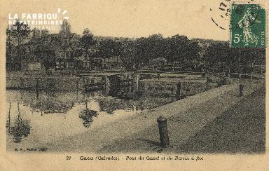 Cl 07 020 Caen- Pont du canal et du Bassin à Flot
