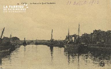 Cl 07 021 Caen - Le port et le Quai Vandeuvre