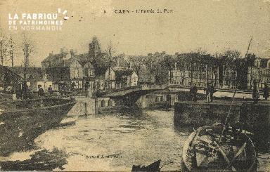 Cl 07 022 Caen - L'Entrée du port