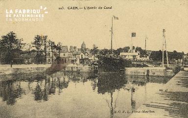 Cl 07 025 Caen - L'Entrée du Canal