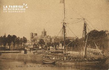 Cl 07 043 Caen - Le port et l'Eglise de la Trinité (Abbaye aux Dames)