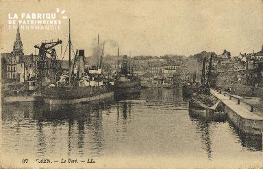Cl 07 048 Caen - Le port