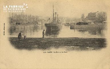 Cl 07 049 Caen - La sortie du port