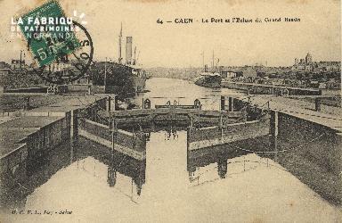 Cl 07 053 Caen - Le port et l'Ecluse du Grand Bassin