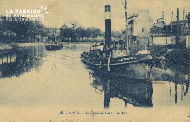 Cl 07 075 Caen - Le Canal de Caen à la Mer
