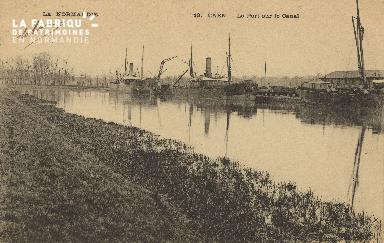 Cl 07 076 Caen - Le port sur le Canal