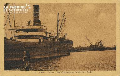 Cl 07 082 Caen - Le port - Vue d'ensemble sur le Nouveau Bassin