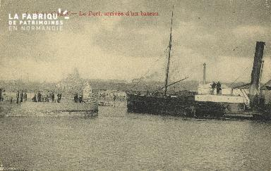 Cl 07 086 Caen - Le port - Arrivée d'un Bateau