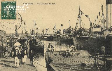 Cl 07 089 Caen - Vue générale du  port
