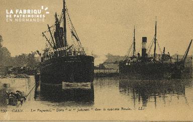 Cl 07 091 Caen - Les Paquebots Dora et Johanna dans le nouveau Bassin