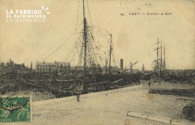 Cl 07 094 Caen -Vue sur Le port