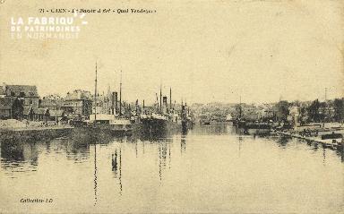 Cl 07 096 Caen - Le Bassin à Flot- Quai Vendoeuvre
