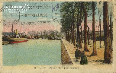 Cl 07 097 Caen - Le Bassin à Flot- Quai Vendoeuvre