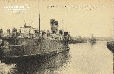 Cl 07 098 Caen - Le Port - Paquebots Anglais Arrivant au port