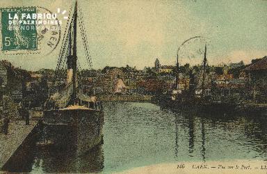 Cl 07 104 Caen - Vue sur le Port