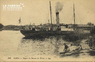 Cl 07 161 Caen - Départ du bateau du Havre