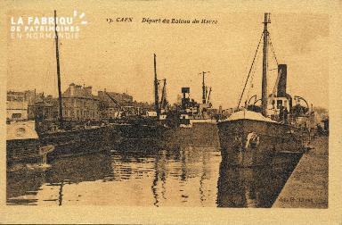 Cl 07 162 Caen - Départ du bateau du Havre
