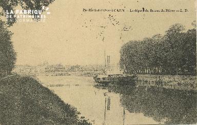 Cl 07 164 Caen - Les bords de l'Orne- Départ du bateau du Havre