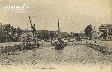 Cl 07 166 Caen - Entrée du canal, le Bassin