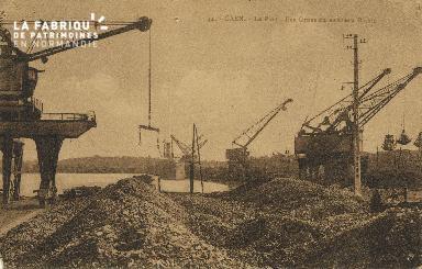 Cl 07 167 Caen - Le port- Les gres du nouveau bassin