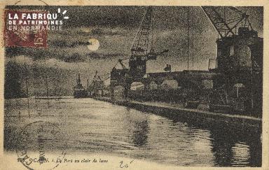 Cl 07 172 Caen - Le port au clair de lune