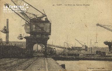 Cl 07 173 Caen - Les Grues du port au charbon