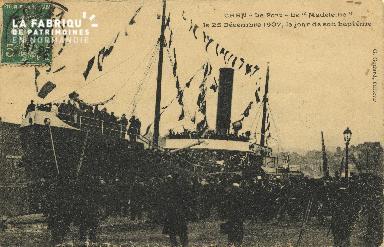 Cl 07 180 Caen - Le port- Le Madeleine, Le 25 décembre 1907, le jour d
