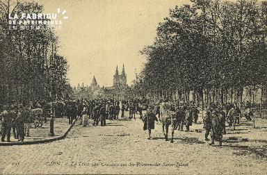 Cl 07 203 Caen - La foire aux Cheveaux sur les promenades Saint-Julien