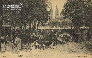 Cl 07 208 Caen - La place du Parc un jour de Foire