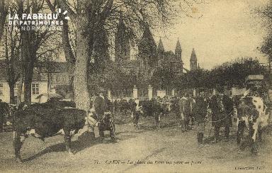 Cl 07 210 Caen - La place du Parc un jour de Foire