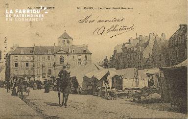 Cl 07 214 Caen - La place St-Sauveur