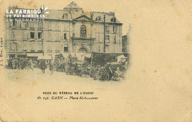 Cl 07 215 Caen - Vue du réseau de l'Ouest - Place St-Sauveur