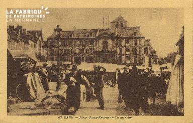 Cl 07 218 Caen - Place St-Sauveur- Le marché