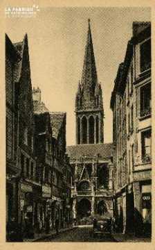Cl 08 012 Caen rue Montoir Poissonnerie l'Eglise St Pierre
