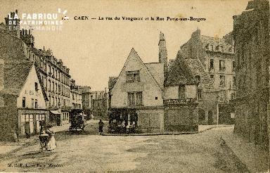 Cl 08 018 Caen rue du Vaugueux et rue Porte-aux -Bergers