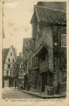 Cl 08 021 Caen rue Porte-au-Berger et rue du Ham