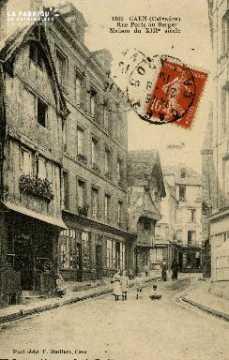 Cl 08 022 Caen rue Porte-au-Berger Maison du XIIIè s.