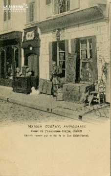 Cl 08 026 Caen maison Costey antiquaire cour de l'ancienne Halle entré