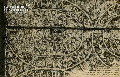 Cl 08 061Cl 08 059 Caen Musée des Antiquaires Filet brodé en reprise d