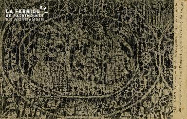 Cl 08 062 Caen Musée des Antiquaires Filet brodé en reprise dit ouvrag