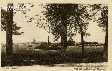 Cl 08 098 Caen vue sur l'Abbaye aux Hommes