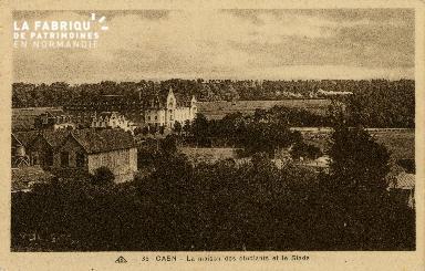 Cl 08 123 Caen la Maison des Etudiants et le Stade
