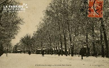 Cl 08 137 Caen Cours Sadi-Carnot et Châlet sous la neige